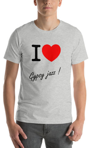 T-Shirt I love gypsy jazz