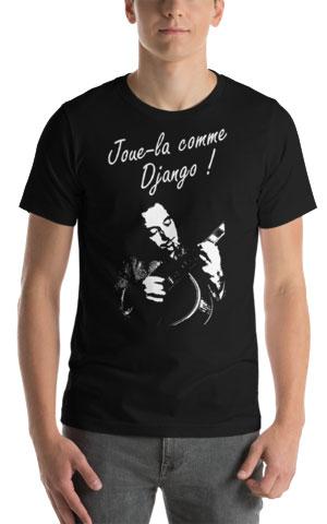 T-shirt jazz manouche joue-la comme django